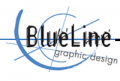 Blue Line Graphic Design